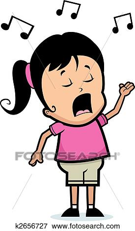 clip art of girl singing k2656727 search clipart illustration rh fotosearch com singing clipart gifs singing clipart gifs