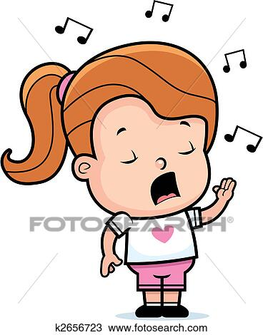 Kids Singing Clipart Girl Singing