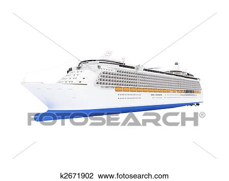 Clip Art Of Cruise Ship Isolated Front View K Search - Cruise ship drawings