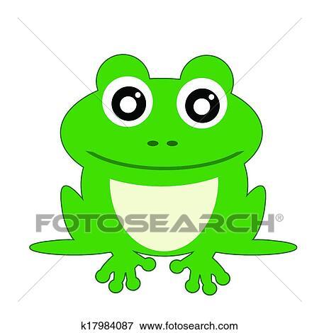 青蛙简易卡通画