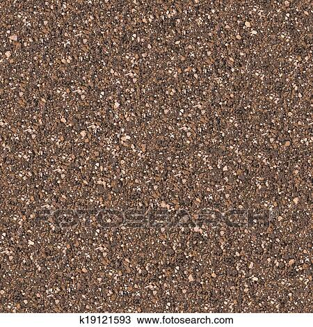 Drawing of Soil Mixed with Small Stones. Seamless Texture ...