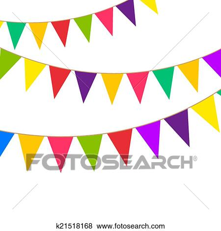 clip art of party bunting k21518168 search clipart illustration rh fotosearch com bunting clipart images bunting clipart black and white