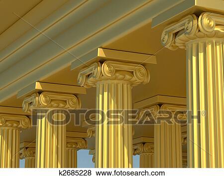 Stock Illustration of Roman columns k2685228 - Search EPS Clip Art ...