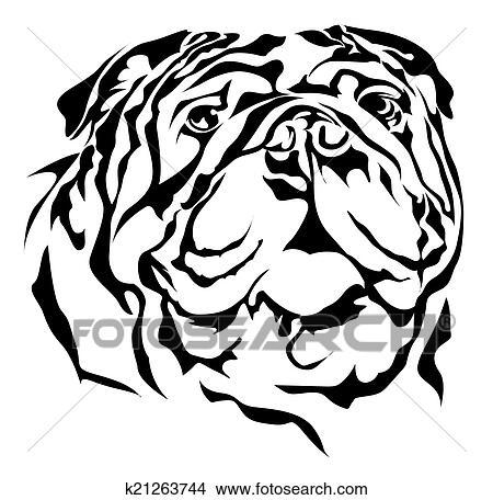 Bulldog Silhouette Vector Bulldog Vector Silhouette on