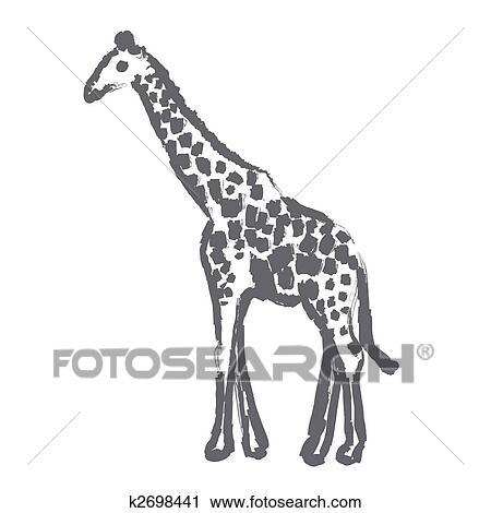 剪贴画 长颈鹿