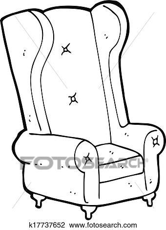 Sessel clipart  Clipart - karikatur, alt, sessel k17737652 - Suche Clip Art ...