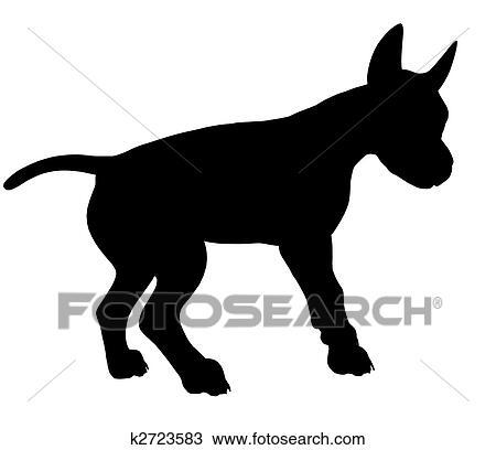 手绘图 - 小狗, 狗, 描述