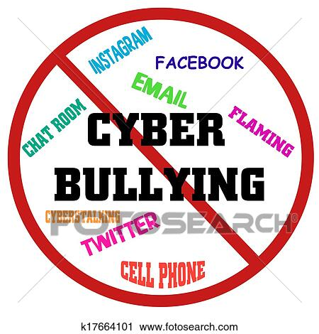clipart of stop cyber bullying k17664101 search clip art rh fotosearch com cyber bullying clipart free cyber bullying pictures clip art