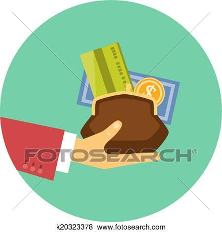 clip art hand geldgabe begriff von a kredit oder darlehen k20323378 suche clipart. Black Bedroom Furniture Sets. Home Design Ideas