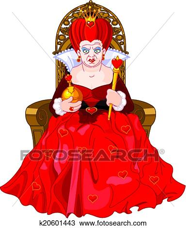 Clipart of Angry Queen on throne k20601443 - Search Clip ...