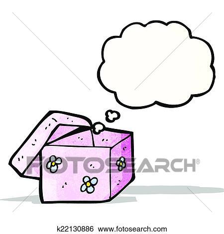 clipart dessin anim vide bo te cadeau k22130886 recherchez des cliparts des. Black Bedroom Furniture Sets. Home Design Ideas