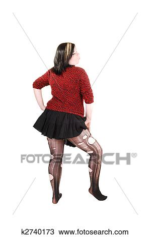 Banque de photo girl d chir haut pantyhose for Collant mural francais