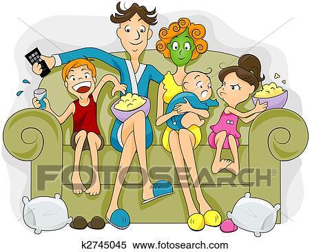 家庭, 看电视