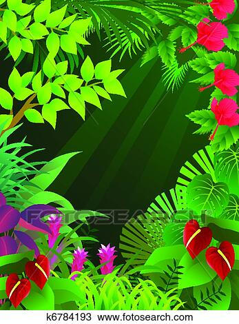 clipart of tropical forest background k6784193 search