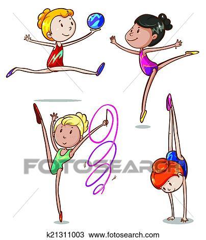Résultats de recherche d'images pour «clipart gymnastes»