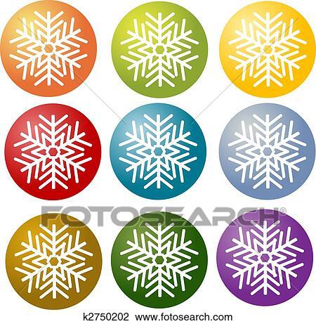 Clipart flocon de neige simple illustration symbole k2750202 recherchez des cliparts des - Dessin flocon de neige simple ...