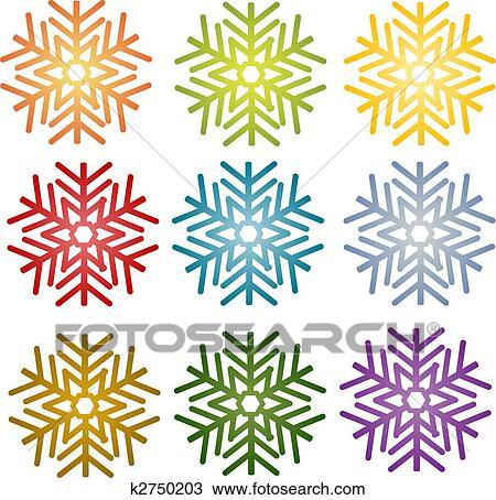 Dessin flocon de neige simple illustration symbole - Dessins flocons de neige ...