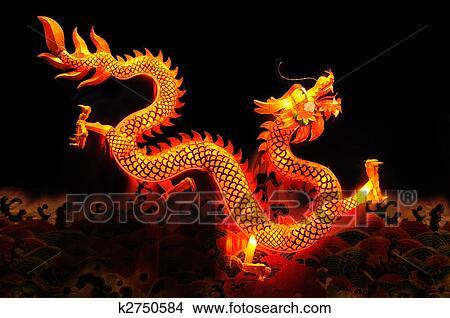 Banque de photo dragon chinois lanterne k2750584 - Photo de dragon chinois ...