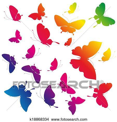 手绘图 - 蝴蝶, 设计