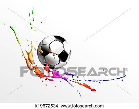 手绘图 - 足球图片