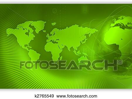 Stock illustration of world concept background k2765549 for Environmental graphics giant world map wall mural