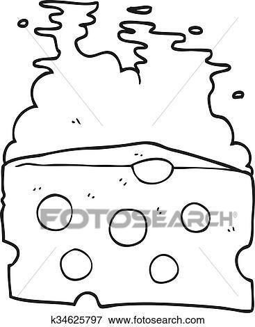 Käse clipart schwarz weiß  Clip Art - schwarz weiß, karikatur, käse k34625797 - Suche Clipart ...