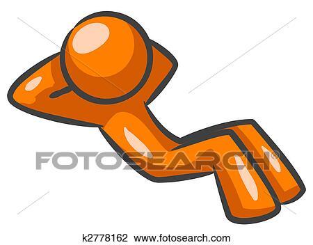 clip art of orange man doing sit ups k2778162 search clipart rh fotosearch com Orange Clip Art of Farms Orange Clip Art