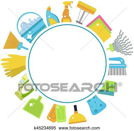 clipart of set of icons for cleaning tools house cleaning cleaning rh fotosearch com house cleaning pictures clip art house cleaning services clip art