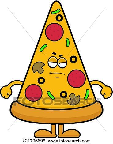 clipart of cartoon pizza slice grumpy k21796695 search clip art rh fotosearch com grumpy bear clipart grumpy man clipart