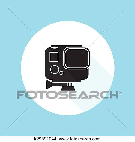 Clipart Of Gopro Hero Hd Action Camera Pro Sport Silhouette Vector Résumé  Gopro Chargeur Mural Part 91