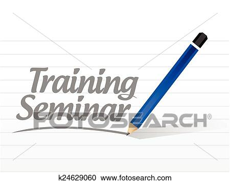 Clipart of training seminar message k24629060 - Search ...