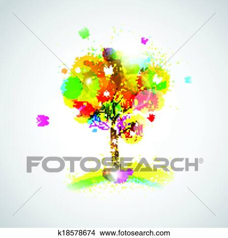 Easy Abstract Tree Drawings Clipart Abstract Tree