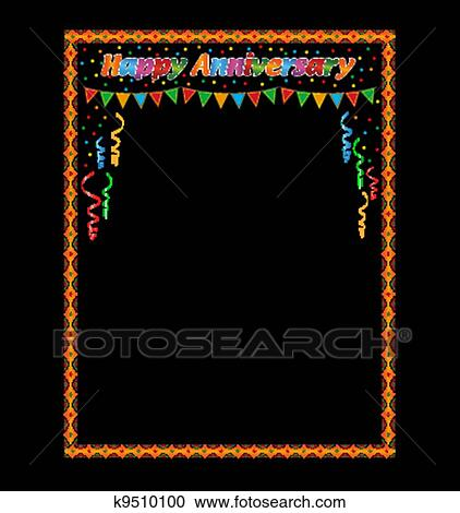 stock illustration happy anniversary frame fotosearch search clipart illustration posters drawings