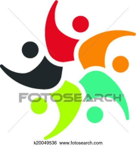 Kinderkreis clipart  Clip Art - kinder, kreis, 5 leute, bild, logo k20049536 - Suche ...