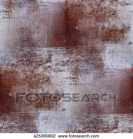 banque de photo seamless brun texture fer rouille fond papier peint k25390802. Black Bedroom Furniture Sets. Home Design Ideas