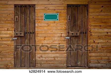banque de photo ext rieur toilette bois k2824914 recherchez des images des photographies. Black Bedroom Furniture Sets. Home Design Ideas