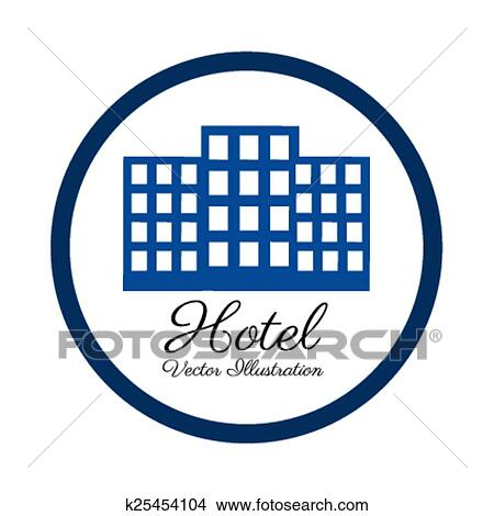 clipart of hotel design vector illustration k25454104 search rh fotosearch com hotel clipart png hotel clipart vector