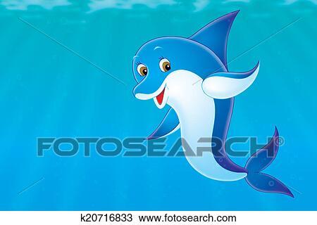 手绘图 - 海豚