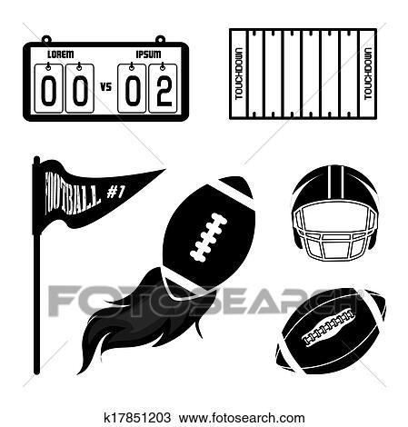 Clipart football am ricain k17851203 recherchez des - Dessin football americain ...