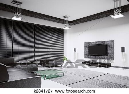 Bild wohnzimmer innere 3d render k2841727 suche for 3d bilder wohnzimmer
