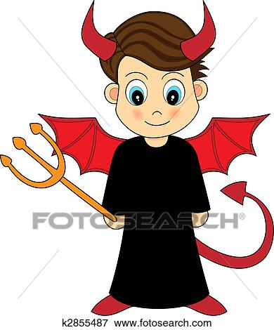 clip art of cute devil boy k2855487 search clipart illustration rh fotosearch com devil clip art images for free devil clipart free download