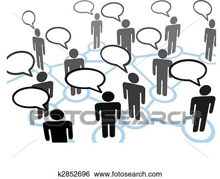 clip art of everybodys talking speech bubble communication network rh fotosearch com network clipart for word network clipart png