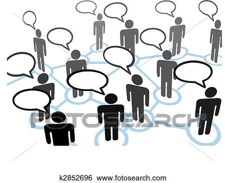 clip art of everybodys talking speech bubble communication network rh fotosearch com network clipart for powerpoint network clip art free