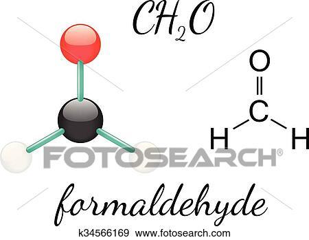 Clip Art of H2CO formaldehyde molecule k34566169 - Search ... H2coh