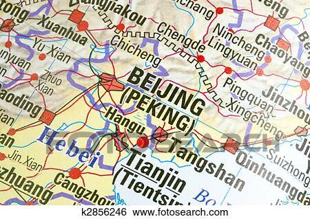 北京, 在上, a, 地图