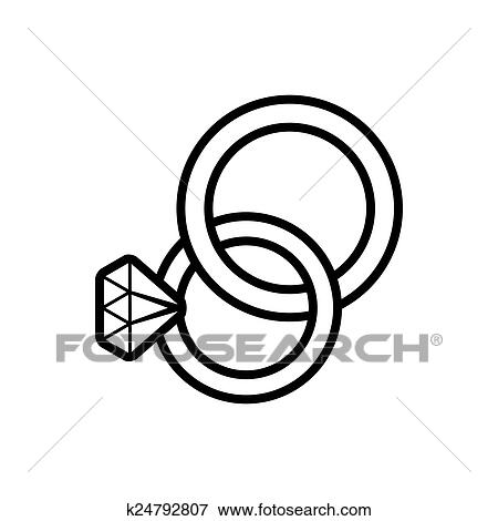 Clip Art of Wedding rings k24792807 Search Clipart Illustration