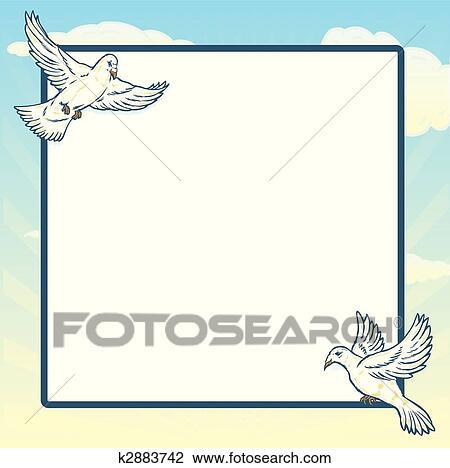 Clipart - colomba, volo, cornice, disegno k2883742 - Cerca Clipart ...