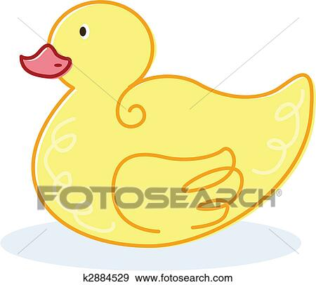 Clipart mignon canard jaune vecteur illustration - Illustration canard ...