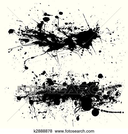 clip art of splat dribble grunge k2888878 search clipart rh fotosearch com grunge background clipart grunge clipart png