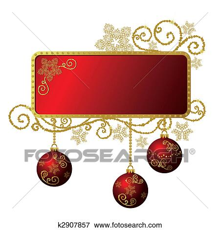 clip art rot gold weihnachten rahmen freigestellt. Black Bedroom Furniture Sets. Home Design Ideas